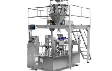 Automatic rotary packaging machine from pre-made bag (doy bag ,stand up pouch ,four side sealing bag )