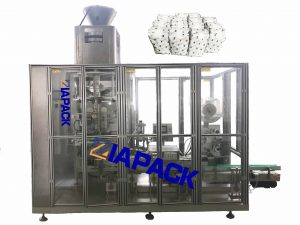 Automatic square bottom bag with top label packaging machine