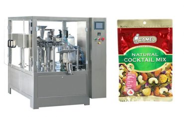 Automatic zipper bag packaging machine for nuts