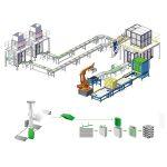 вторинна упаковка виробнича палетизаційна лінія