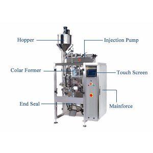 Машина для запечатування вертикальної форми з пилососом для рідин